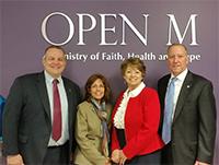 BobTitus,Dr.TerryAlbanese,DottieAchmoody,andMayorDanHorrigan