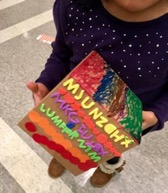 Children made fun crafts with the Akron Summit Co. Public Library!
